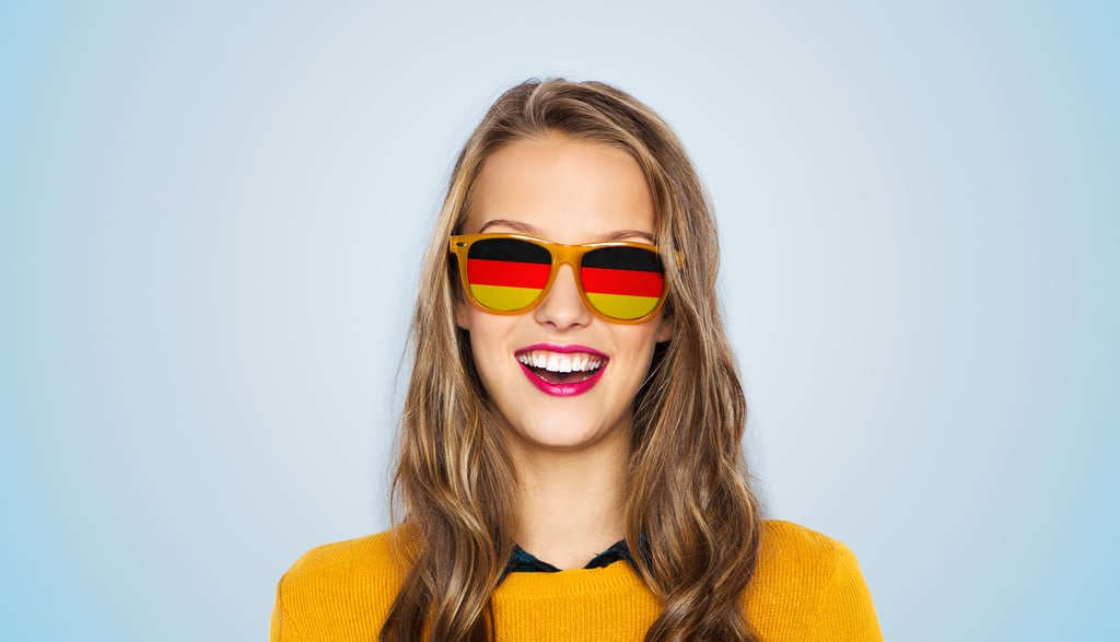 German girl in sunglasses